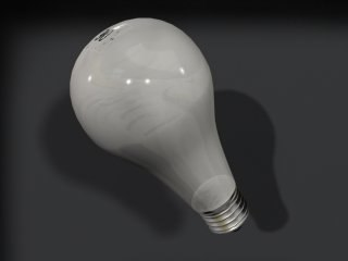 3d soft white light bulb model