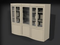 3d china cabinet model