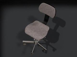 3d model plain office chair