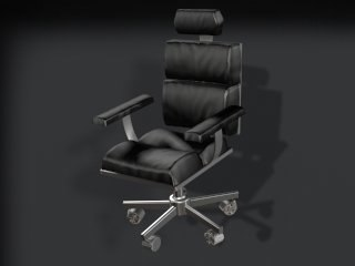 leather executive office chair 3d max