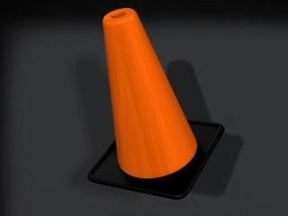 3d model cone render-ready