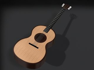 3ds max accoustic guitar