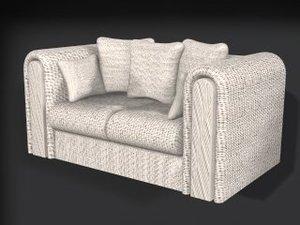 3d love seat