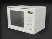 small microwave 3d model