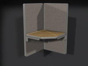 3d model corner office