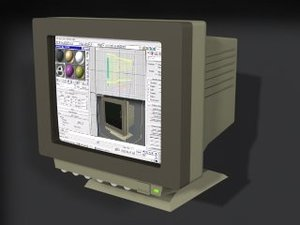 3d monitor - model