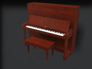 upright piano board 3d model