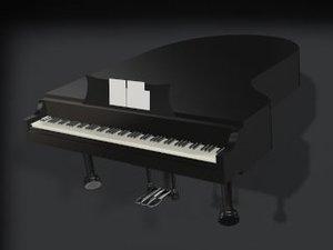 piano instruments 3d model