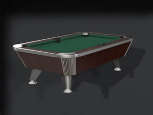3d commercial pool table model