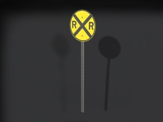 road crossing sign 3d 3ds
