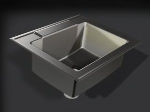 3d model stainless sink