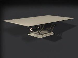 3d model dinnete table