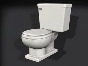 3d standard toilet model