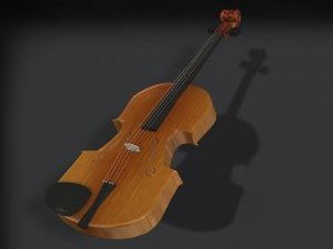 violin - 3d 3ds