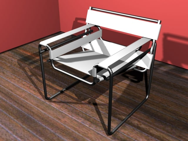 3d model of wassili chair