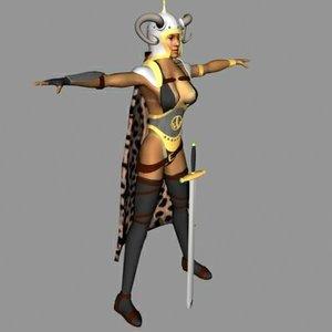 human female barbarian max