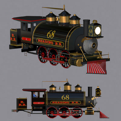 vehicle train engine 3d