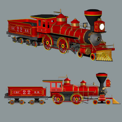 train engine 3d