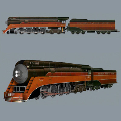 3d model train engine