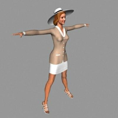 3d character maureen