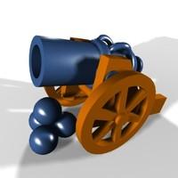 free toy gun 3d model