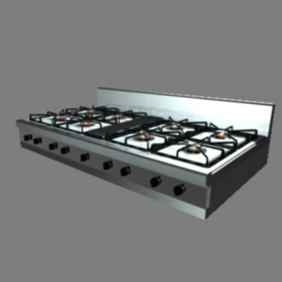 rangetop 3d model