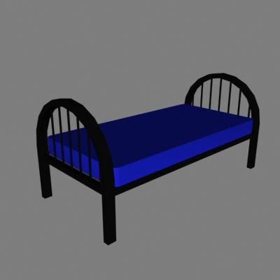 3d bed furniture model