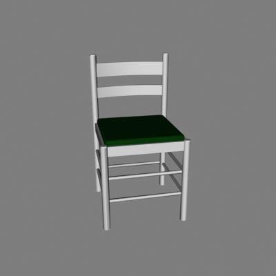 kitchen chair short 3d model