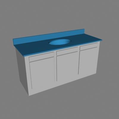 bathroom sink counter 3d 3ds