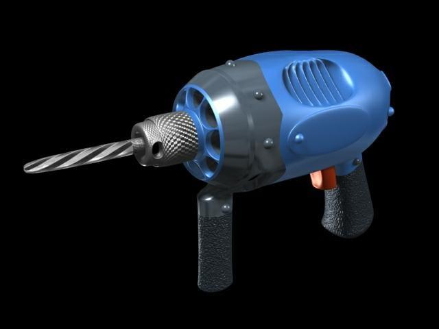 cartoonish drill device 3d model