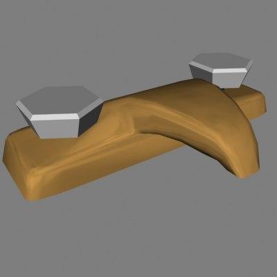 3d model faucet