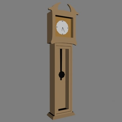 grand father clock 3ds