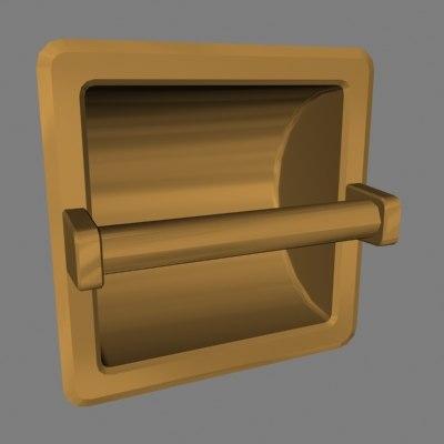 3ds toilet paper holder