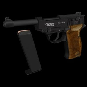 walther p1 3d model
