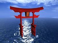 torii asia bridge 3d model