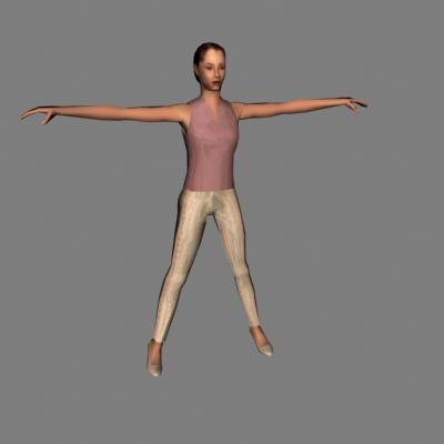 3d model human woman female