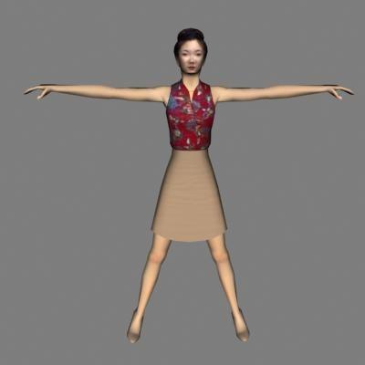 human woman female 3d model