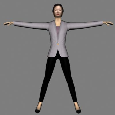 3d model of human woman female
