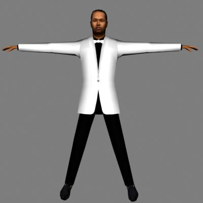 3ds max character human male