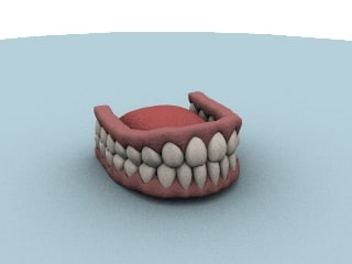 3d teeth tongue