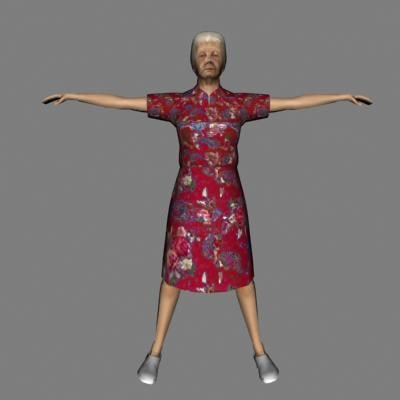 3d model female woman human