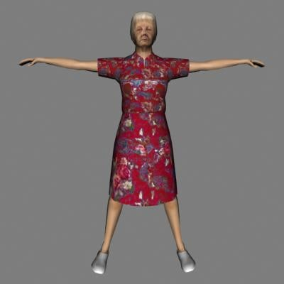 female woman human 3d max