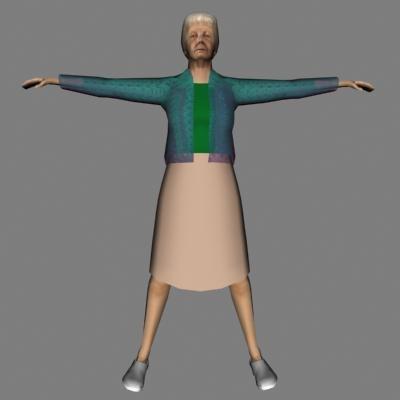 female woman human 3d 3ds