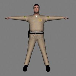 3d model cop