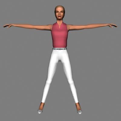 3ds max human female