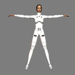 human female bodysuit 3d model