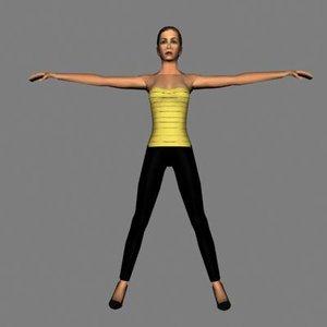human female 3d max