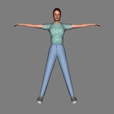 human female 3d 3ds