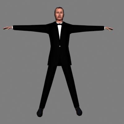 human male 3d max