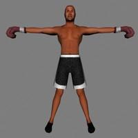 human male boxer 3d model